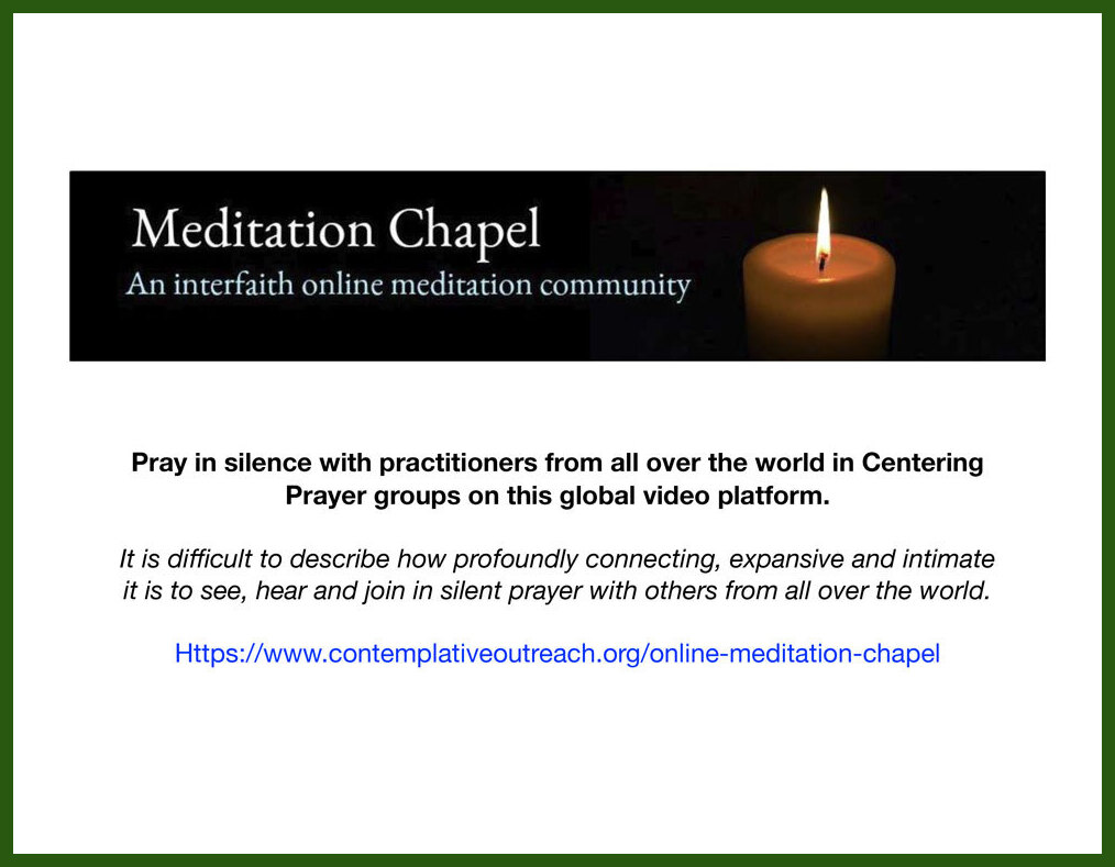 Join in a Community of Prayer in the Online Meditation Chapel