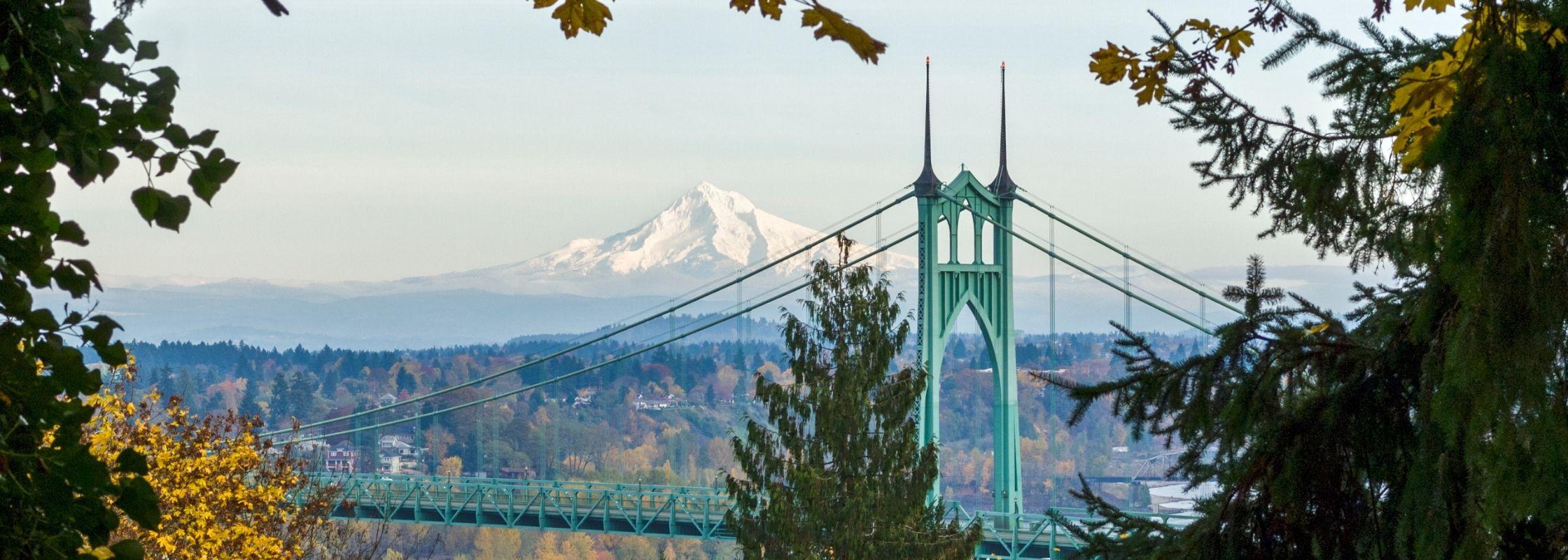St Johns Bridge in Portland